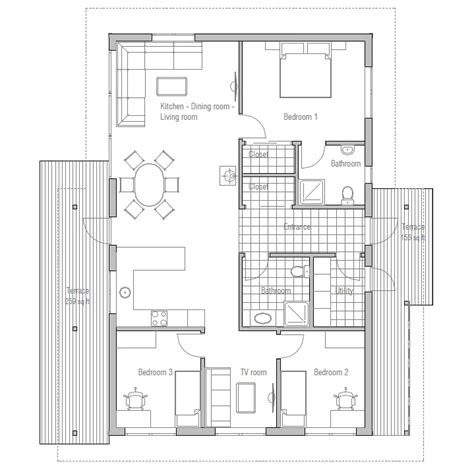 inexpensive home plans affordable home ch32 with logical floor layout house plan