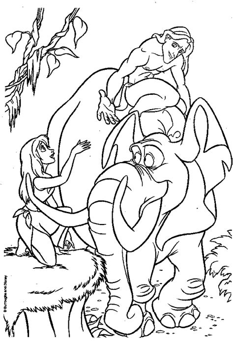tarzan coloring pages to download and print for free