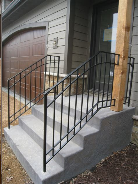 Iron Handrails For Steps exterior step railings o brien ornamental iron show my