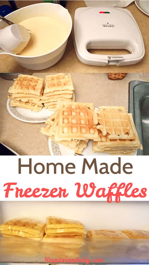 home made freezer waffles keep it simple diy