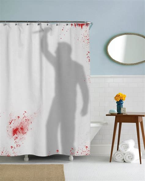 Psycho Shower Curtain by Knife Wielding Psycho Shower Curtain For The Momma