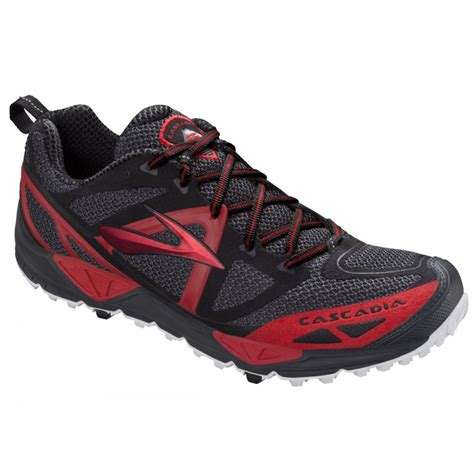 black trail running shoes cascadia 9 anthracite black trail running shoes mens