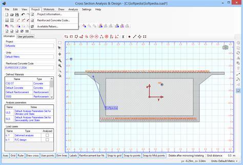 design analysis application cross section analysis design download