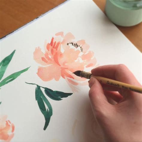 watercolor peony tattoo 25 best ideas about peony painting on