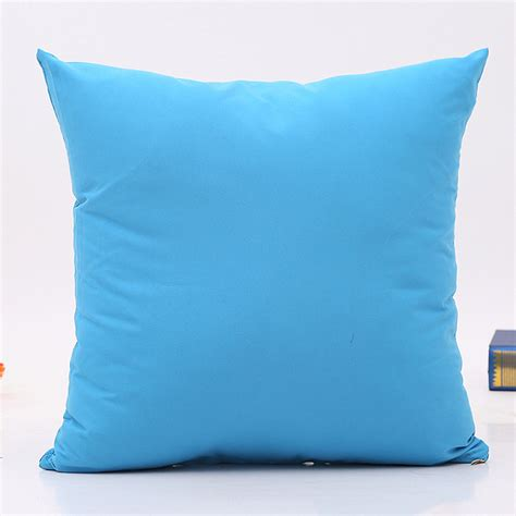 cushion bed throw home decor plain solid pillow case bed sofa car