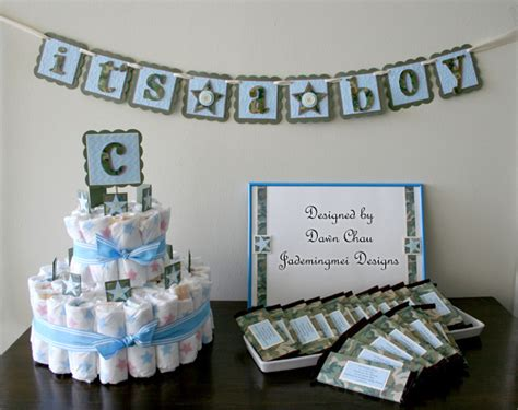 Blue Camo Baby Shower Decorations by Jademingmei Designs Camo Themed Baby Shower
