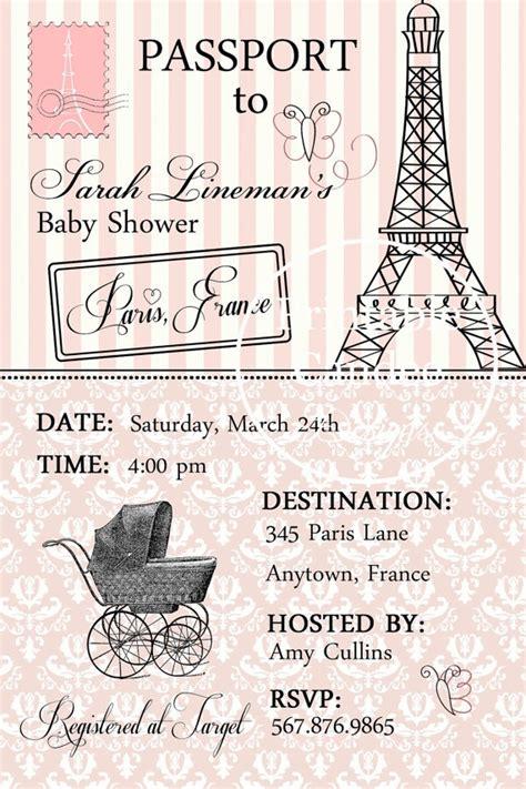 passport to baby shower invitation by