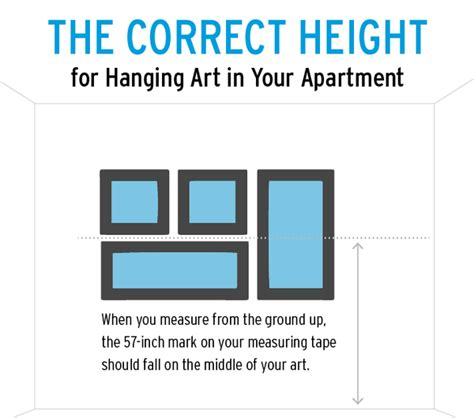 height for hanging pictures height to hang pictures on wall my web value