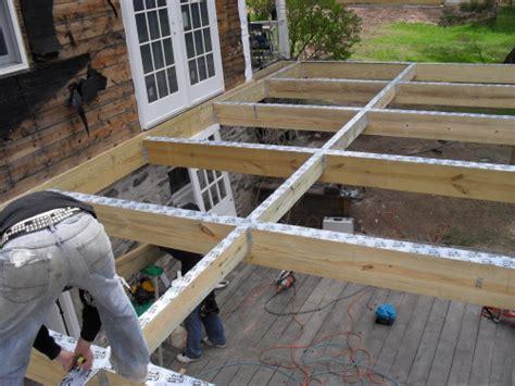 construire terrasse en hauteur sur pilotis
