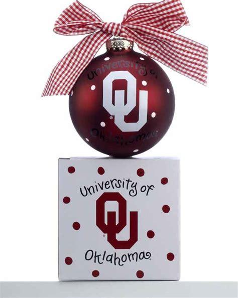 oklahoma state university christmas ornaments of oklahoma logo personalized ornament ornament shop