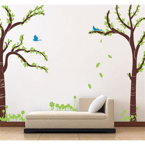 repositionable wall stickers love twin tree removable vinyl art wall decal wayfair