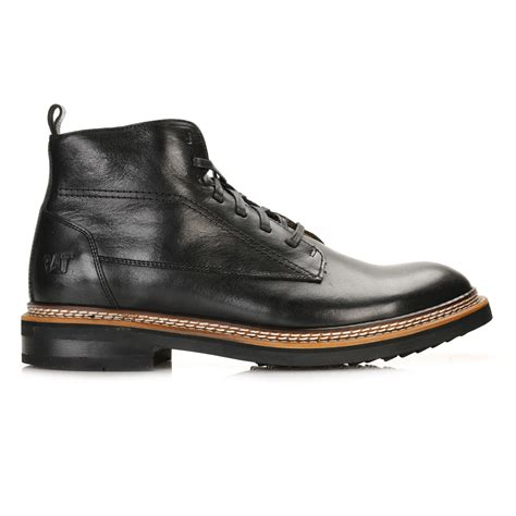 mens black ankle boots caterpillar mens black sutter ankle boots goodyear welted
