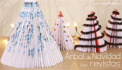 arboles de navidad hechos con revistas 193 rbol de navidad con revistas papelisimo