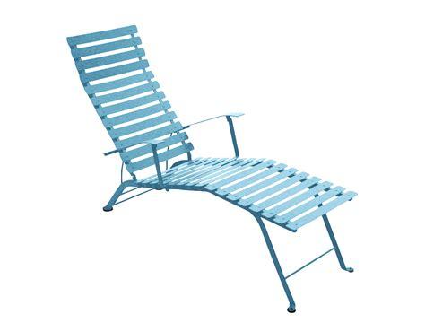chaise en couleur fermob bistro colourful designer folding metal chaise longue