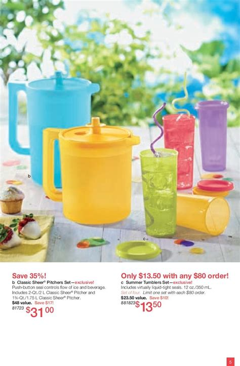 Tumbler Tupperware tupperware classic pitcher set for 31 00 save 35