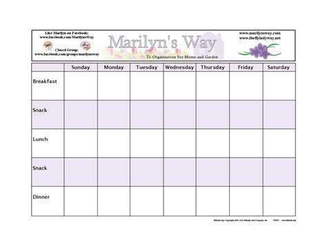 daily menu planner template free printable weekly planner template calendar template