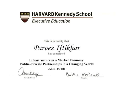 Harvard Executive Mba Program by Certificates Parvez Iftikhar