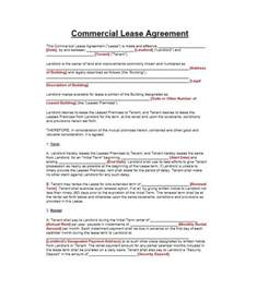 Commercial Office Lease Agreement Template doc 445630 commercial office lease agreement free