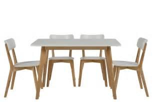Chaise Table Table 4 Chaises Smogue Bois Blanc Mykaz
