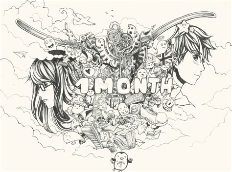 doodle anniversary 1 month one month anniversary by boos2 on deviantart