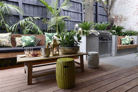 delightful Simple Backyard Landscaping Ideas #4: Outdoor-seating-BBQ-area.jpg