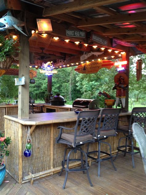 Tiki Bar Foot Rest Bar Front Back Yard Pinterest Backyard Tiki Bar Ideas