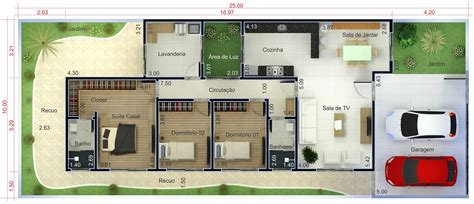 planta casas planta de casa t 233 rrea 3 quartos projetos de casas