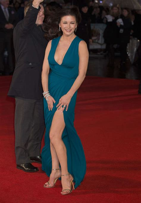 catherine zeta jones catherine zeta jones dad s army premiere in