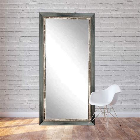 32 in x 71 in weathered harbor floor framed mirror