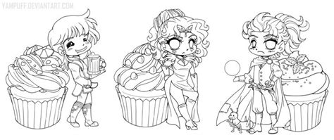 coloring page yam cookbook chibi linearts commission by yuff