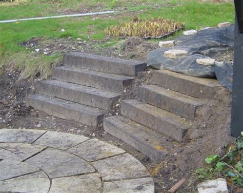 How To Build Steps With Railway Sleepers by Build A Japanese Garden Pond
