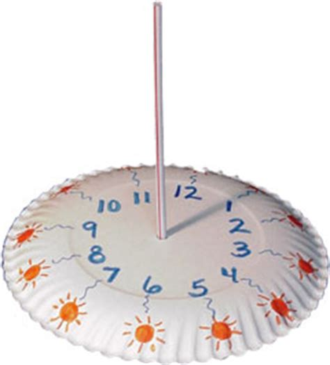 How To Make A Sundial With A Paper Plate - preschool crafts for easy sundial paper plate craft