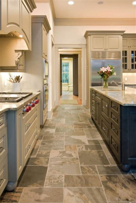 slate kitchen flooring afreakatheart