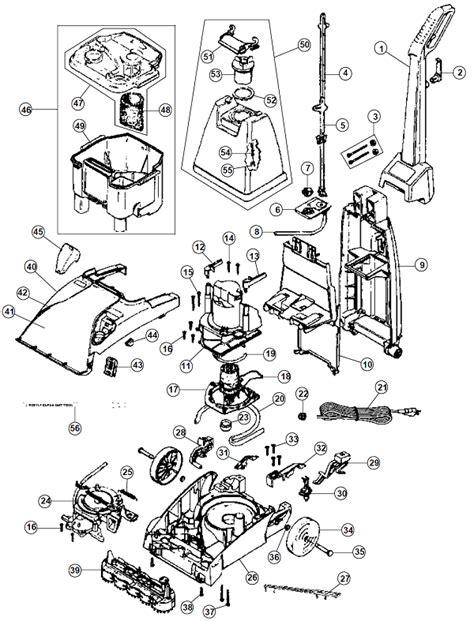 hoover steamvac parts diagram fh50025 hoover steamvac spinscrub 50