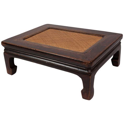 low table elegant antique chinese footrest low table with soft cane