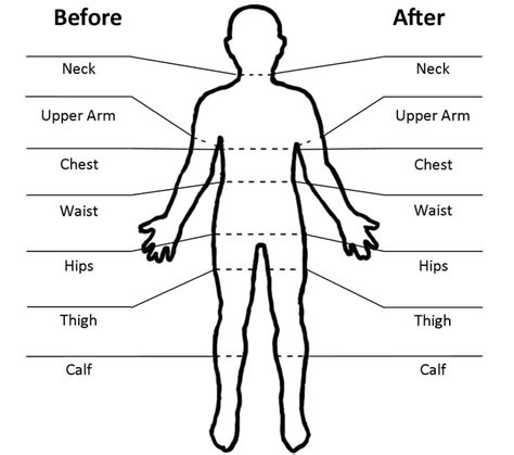 weight loss chart new fitness measurements chart etame mibawa
