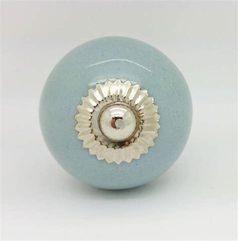 grey ceramic cupboard door knob drawer pull handle by