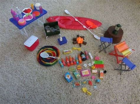 Barbie coleman tent stove lantern camping gear set large accessories on PopScreen