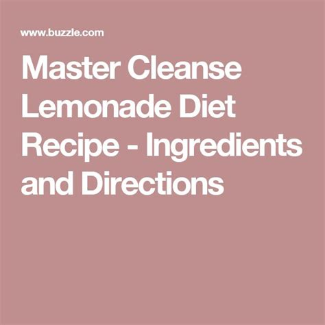Coming The Master Cleanse Lemonade Detox Diet by 1000 Ideas About Lemonade Diet On Cleansing