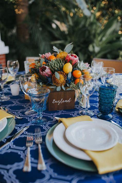 mediterranean travel inspired outdoor bradenton wedding