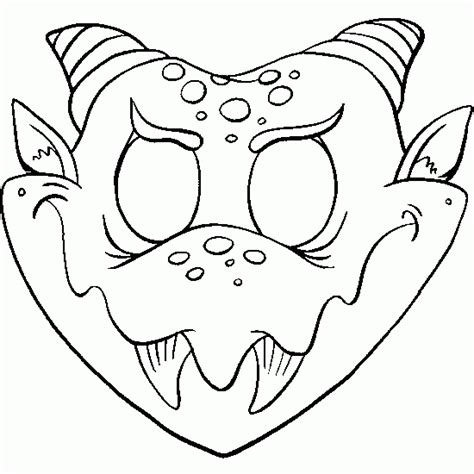 printable halloween masks vire mask coloring page coloring pages