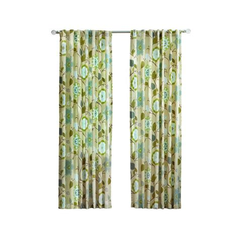 Pear Kitchen Curtains Home Decorators Collection Pear Floral Cottage Back Tab Curtain 1623933 The Home Depot