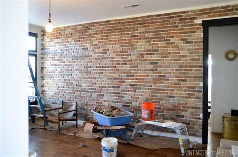 ziegelstein wand innen installing brick veneer inside your home vintage revivals