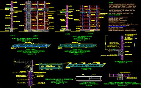 structural details masonry dwg detail  autocad
