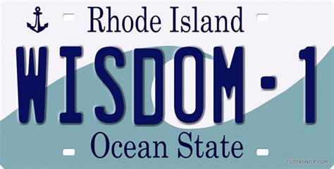 Vanity Plates Ri by Rhode Island License Plate License Plate License Tag Novelty License Plate Designer License