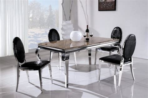 steel chairs for dining table 50 industrial look home and furniture designs