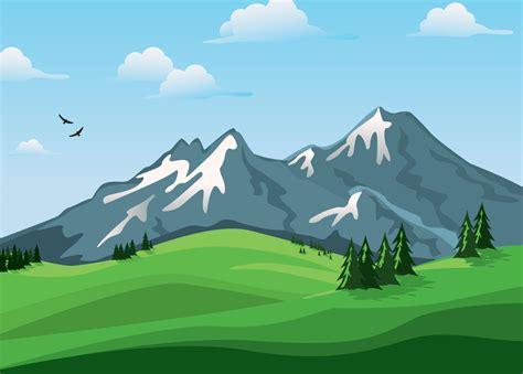 wallpaper gunung vektor lanskap hd alam layar lebar