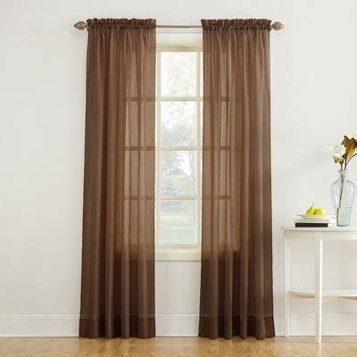 chocolate brown curtain panels quot no 918 erica crushed voile curtain panel chocolate