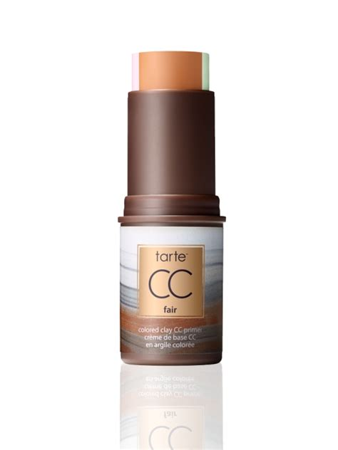 tarte foundation colors tarte cc colored clay corrective stick primer foundation