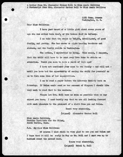 Graham Bell Essay by Letter From Graham Bell To Sullivan Undated Library Of Congress
